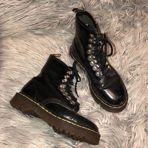 Rare vtg dr martens 1460 black leather boots 6 6.5